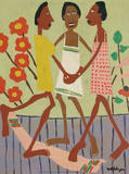 Ring Around the Rosey Affiches par William H. Johnson