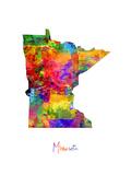 Minnesota Map Premium Giclee-trykk av Michael Tompsett
