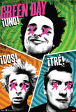 Green Day Uno Dos Tre Music Poster Plakater