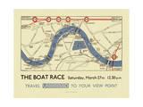 Boat Race Map Reproduction procédé giclée par  Transport for London