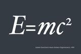 Einstein E equals mc2 Láminas por Michael Tompsett