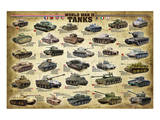 WWII Tanks Poster