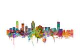 Montreal Canada Skyline Poster von Michael Tompsett