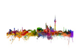Berlin Germany Skyline Poster von Michael Tompsett