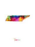 Tennessee Map Posters av Michael Tompsett