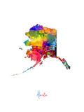 Alaska Map Plakater av Michael Tompsett