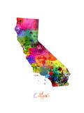 California Map Plakater av Michael Tompsett