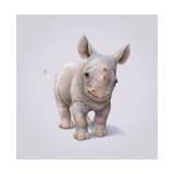 Rhino Giclée-tryk af John Butler Art