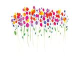 Vibrant Floral Giclée-tryk af Summer Thornton