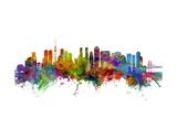 Tokyo Japan Skyline Poster par Michael Tompsett