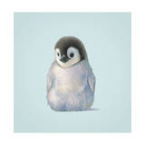 Pingüino Lámina giclée por John Butler Art