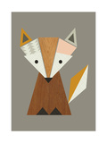 Geometric Fox Lámina giclée por  Little Design Haus
