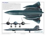 Airplane SR-71 Blackbird Poster