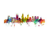 Perth Australia Skyline Prints by Michael Tompsett