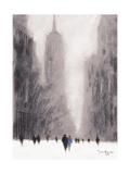 Heavy Snowfall, 5th Avenue - New York Lámina giclée por Jon Barker