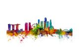 Singapore Skyline Poster van Michael Tompsett
