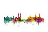 Zurich Switzerland Skyline Láminas por Michael Tompsett