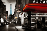 Paris Street At Night Poster