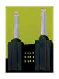 Estación de energía de Battersea Lámina giclée por Jennie Ing
