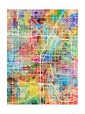 Las Vegas City Street Map Posters by Michael Tompsett