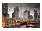 Fiume Chicago Stampe