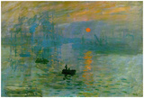 Claude Monet Impression Sunrise 1872 Art Poster Print Pôsteres por Claude Monet