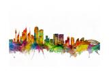 Sydney Australia Skyline Affiches par Michael Tompsett