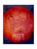 The Planet Mars Kunst von Michael Tompsett