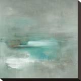 Misty Pale Azura Sea Sträckt kanvastryck av Heather Ross