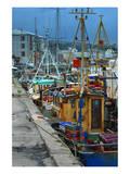 Fishermen in dock Stampe