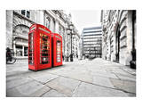 Phone Booths on London Street Pôsters