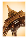 Eiffel Tower Sepia Paris France Poster