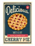 Vintage Cherry Pie Sign Kunstdruck