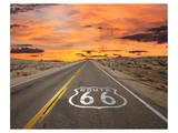 Route 66 Sign Mojave Desert Affiche