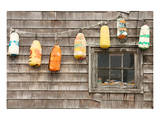 Colorful Buoys in Peggys Cove Poster