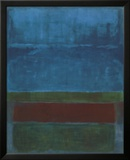 Blue, Green, and Brown Art by Mark Rothko