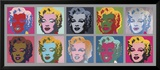 10 x Marilyn, 1967 Posters av Andy Warhol