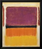 Paars, Zwart, Oranje, Geel op Wit en Rood, 1949 Kunst van Mark Rothko