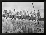 Lunch bovenop een wolkenkrabber, ca.1932 Posters van Charles C. Ebbets