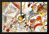 Livlig akvarell, ca 1923 Poster av Wassily Kandinsky