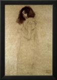 Retrato de una mujer joven, 1896-97 Lámina giclée enmarcada por Gustav Klimt