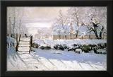 De ekster, 1869 Ingelijste gicléedruk van Claude Monet