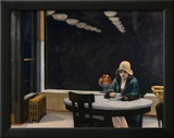 Automat Gerahmter Giclée-Druck von Edward Hopper