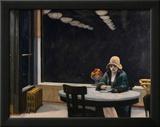 Automat Framed Giclee Print by Edward Hopper