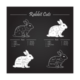 Rabbit Meat Cuts Scheme - Chalkboard Prints by  ONiONAstudio