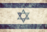 Israel Grunge Flag. Vintage, Retro Style. High Resolution, Hd Quality. Item from My Grunge Flags Co Photographic Print by Michal Bednarek