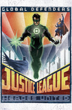 DC Comics Green Lantern - Art Deco Affiches