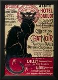Plakat som reklamerer for en utstilling av Du Chat Noir-cabaret på Hotel Drouot, Paris Innrammet Giclee-trykk av Théophile Alexandre Steinlen