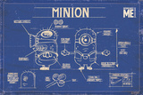 Despicable Me - Blue print Poster
