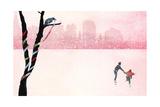 Iceskating Poster by Nancy Tillman